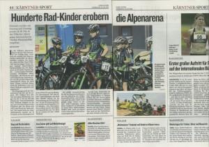 Kleine Zeitung Bericht über Altis the bike team